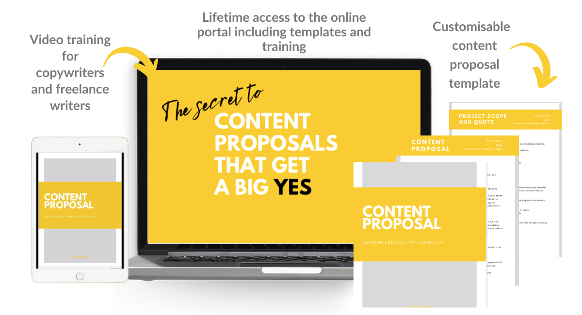 Content proposals for freelance writers