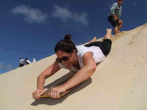 Shelley hitting the (sand) slopes